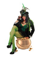 Lady Luck - Sitting on Gold Pot (Pre Cut 2) by MadSDesignz