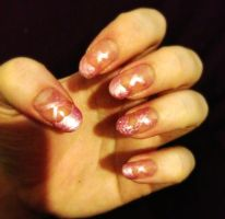 Ballet Slipper Nails by megs2606