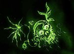 Green Skull by Metalsowa