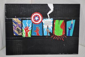 The Avengers Mini Duct Tape Painting by futureprodigy24