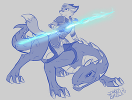 [Commission] Dragon Rider by infinitedge2u