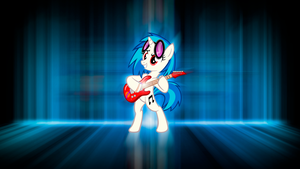 Vinyl Rocking Scratch Wallpaper by BlueDragonHans