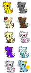 10 Mystery Cat Adopts CLOSED by KatDawgAdopts