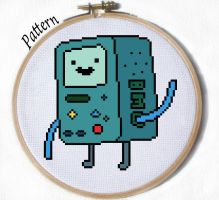 BMO beemo cross stitch pattern by JuliefooDesigns