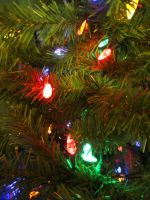 Christmas tree lights by dull-stock