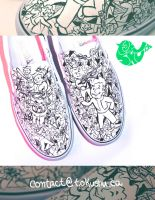 Vault Boy Shoes (Fallout Boy) by artsyfartsyness