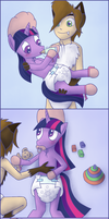Commission: Twilight's baby time by Hira-Dontell