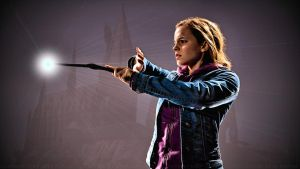 Emma Watson Wands Light by Dave-Daring