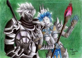 Sylvari's Friendship - Guild Wars 2 by Orander