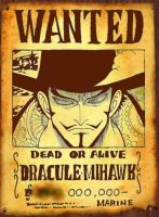 wanted dracule mihawk by San999