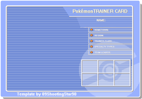 .:Trainer Card: Blue:. by ShootingStar03
