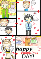 Dean+Cas -  I like bees.  HAPPY VALENTINES! by ChibiVillage