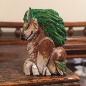 Wolf link carving by AstaraBriarart