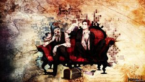 shanks and  buggy the clown by chopper-nx