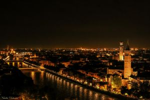 Verona night view by mydarkeyes