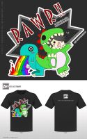 The RAWR Shirt !! - DA Contest by ShiroTatsuKi