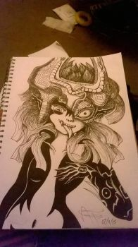 Midna! (Mark making test?) by Illuminati-genius