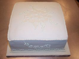 Fondant Embroidery Cake by eckabeck
