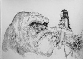 Kong's' Lament  By DW Miller WIP by ConceptsByMiller