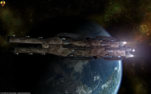 Batarian Dreadnought by Euderion