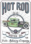 Vintage Hot Rod Sign by DominikScherrer