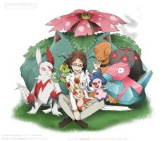Pokemon Professor Hanji - SNK Pokemon X-over by witch13888