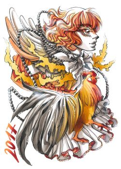 Year of fire Rooster by DarkSena
