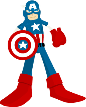 Captain America by yarrbunny