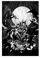 Batman In Rain By Ardian Syaf-inking by royhobbitz