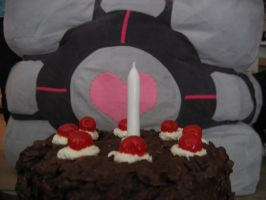 Companion Cube and Cake by NekoNariko