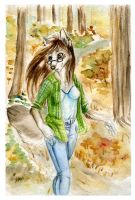 Autumn walking by Akiana-Reverie