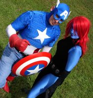 Captian  America and Mystique by WildIrish007