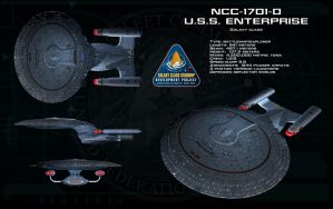 Galaxy class ortho - USS Enterprise D by unusualsuspex