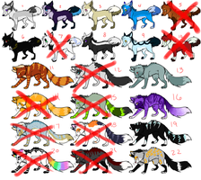 30 Point Adoptables TWELVE LEFT by JinAdopts