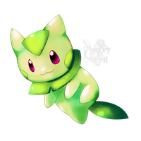 Golden leaf cat Happa by Pand-ASS