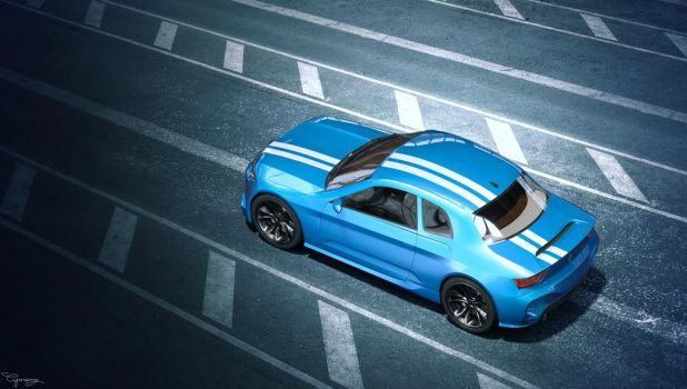 Renault 8 Gordini - concept V1 - 14 by cipriany