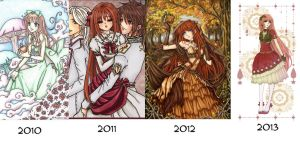 The Progression of Emila by YuukiMONSTER