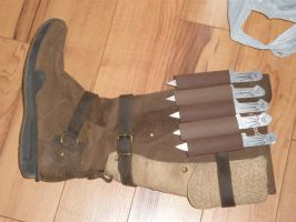 Altair costume - boot daggers by Saera-Song