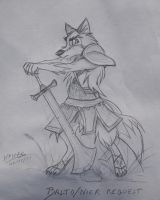 balto dressed as nier draft by draggane