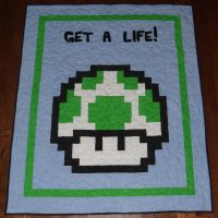 1-up Mushroom Quilt by quiltoni