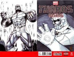 Thanos Rising Cover by madd-sketch
