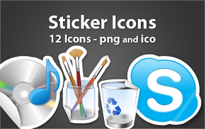 Stickers Icons by borislav-dakov
