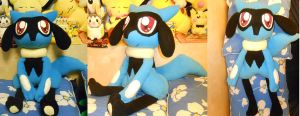Lifesize Riolu Plush by NoxxBunny