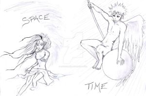 -- space and time -- by luchediluna