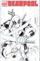 Deadpool sketchcover commission by adelsocorona