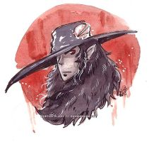 Vampire Hunter D Sketch a Day by Tsubasa-No-Kami