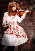 Lolita playing violin by KatlinSumnersModel