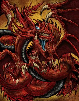 Slifer the Sky Dragon by WretchedSpawn2012