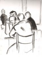 Cafe drawings 32 by Adele-Waldrom