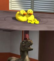 So That's where Rappy's Duck Has Been by DrFaceArt
